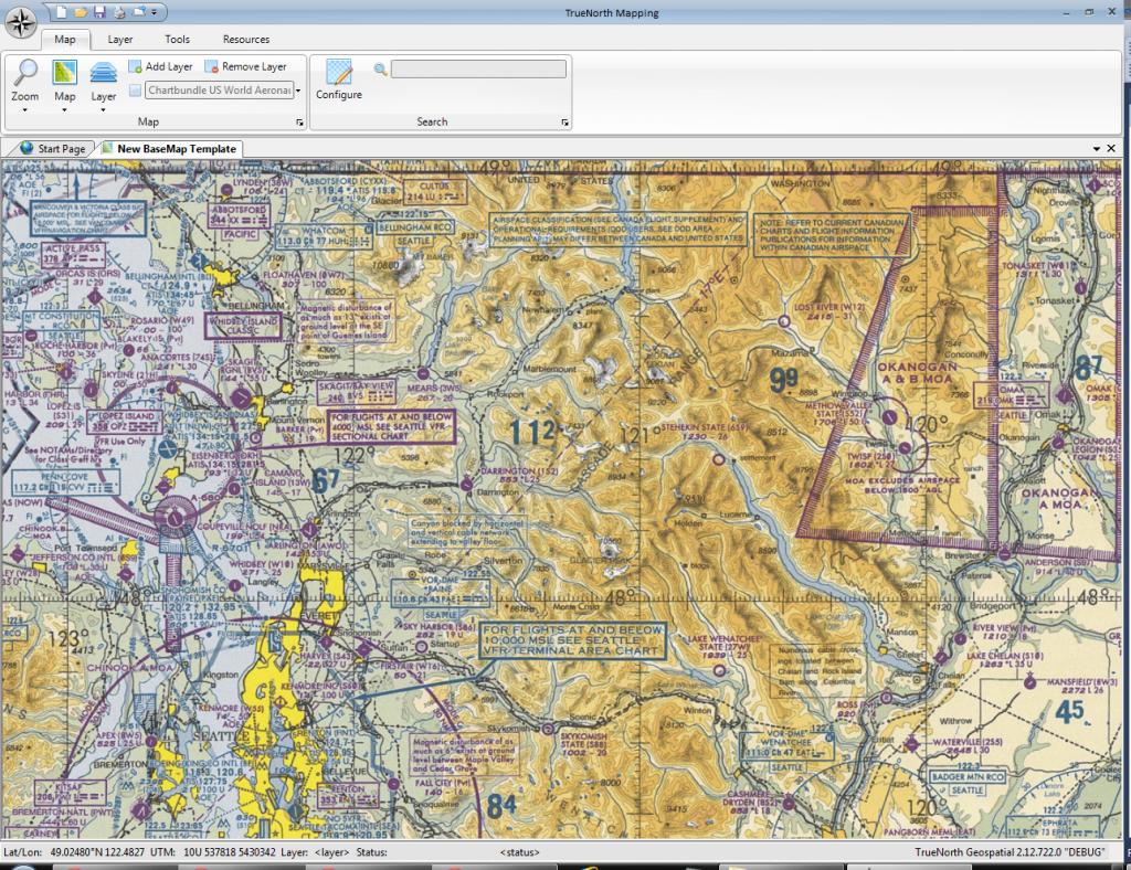 Aeronautical chart, tiles coutesy of Chartbundle.com