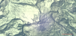 Terrain map of Mount Baker rendered by Stamen Designs using OpenStreetMap data.